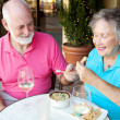 Dating Seniors Enjoy Appetizer — Stock Photo #12122982
