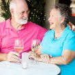 Senior Couple Enjoys Cocktails — Stock Photo #12122986