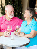 Senior Couple Enjoys Cocktails — Stock Photo