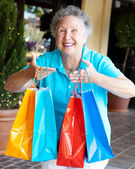 Shopaholic - Compulsive Shopping — Stock Photo