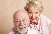 Senior Couple - Closeup Portrait — Stock Photo