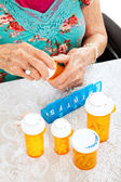 Prescription Pills for the Week — Stock Photo