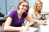 Teens in School — Stock Photo