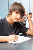 Serious School Boy — Stock Photo