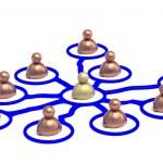 3D Social network concept — Stock Photo
