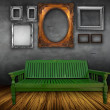 Royalty-Free Stock Photo: Vintage interior with chair and photo frames