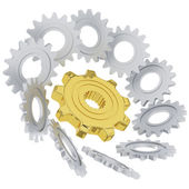 3D gears — Stock Photo