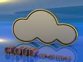 3D Cloud computing concept — Stock Photo