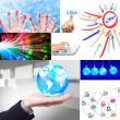 Social network collage set — Stock Photo #12058112
