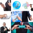 Business collage set of nine pictures — Stock Photo #12058360