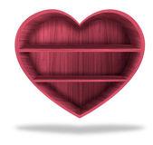 Wooden heart shelf — Stock Photo