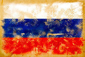 Russian flag grunge on old vintage paper — Stock Photo