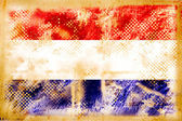 Holand flag grunge on old vintage paper — Stock Photo
