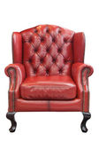 Isolated luxury Red leather armchair — Stock Photo