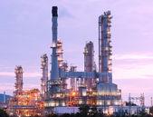 Scenic of petrochemical oil refinery plant — Stock fotografie