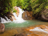 Deep forest Waterfall in Chantaburi, eastern of Thailand — Stock Photo