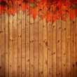 Old grung Wood Texture with leaves use for background — Stock Photo
