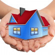 Stock Photo: The House in the hands as a symbol of the real estate business