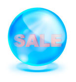 Shiny crystal with sale inside for promotion — Stockfoto