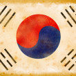 Korean flag grunge on old vintage paper — Stock Photo