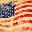 Stockfoto: Americflag grunge on old vintage paper