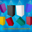 Color paper bags — Stock Photo #12306079