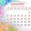 Stock Photo: Calendar 2010, september on Water Color