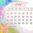 Stock Photo: Calendar 2010, July on Water Color
