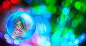 Belysning av kommunikationslinje på cystal och optisk fiber ljus — Stockfoto