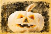 Halloween dýně na staré vinobraní papír — Stock fotografie