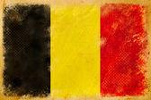 België vlag grunge op oude vintage papier — Stockfoto