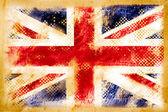 英国国旗 grunge 旧复古纸上 — 图库照片