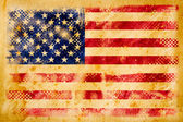 American flag grunge on old vintage paper — Stock Photo
