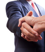 Business shaking hands over a deal — Foto de Stock