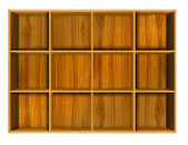 Wooden house shelf — Stock Photo