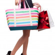 Beautiful womwith shopping bags for sale promotions — Foto de stock #12324229