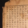 Ancient chinese words on old paper — Stock Photo #12329015