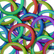 Stack of color circles — Stock Photo