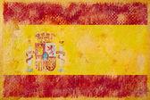 Sztuka hiszpańską flagę — Zdjęcie stockowe