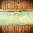 Old grung column Wood Texture and wooden sign with copy space fo — Stock Photo