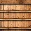 Wooden book Shelf — Stock Photo