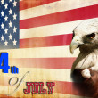 Stock Photo: Happy 4th July independent day of America