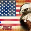 Happy 4th July independent day of America - Stock Photo