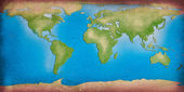 Recycle world map for your background — Stock Photo