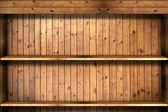 Wooden book Shelf use for background — Stock Photo