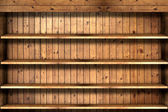 Wooden book Shelf — Stock Photo