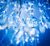 Chrystal chandelier close-up your your background — Stock Photo