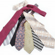 Luxury ties isolated on white background. — Stock Photo
