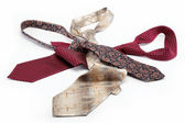 Luxury ties isolated on white background. — Stock Photo