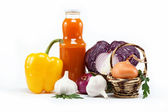 Healthy food. Fresh vegetables on a white background. — Stock Photo